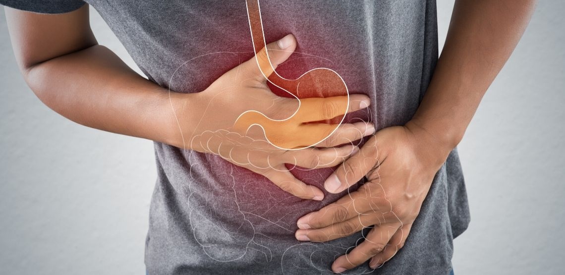A graphic showing where Crohn's disease affects the human body.