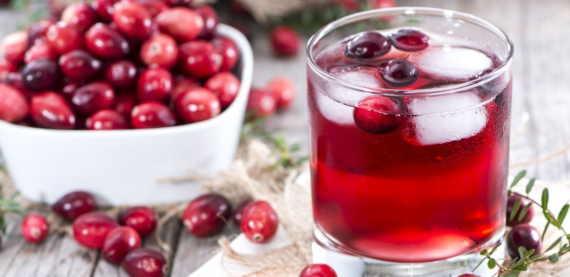 Cranberry juice is known to help UTIs.