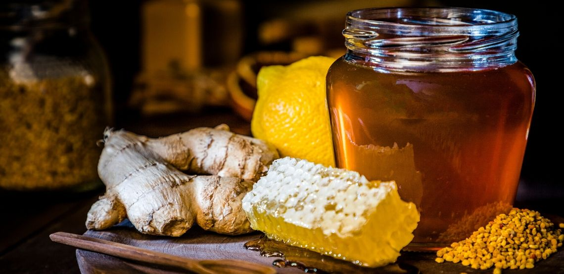 Honey and ginger are both great remedies for chest congestion.