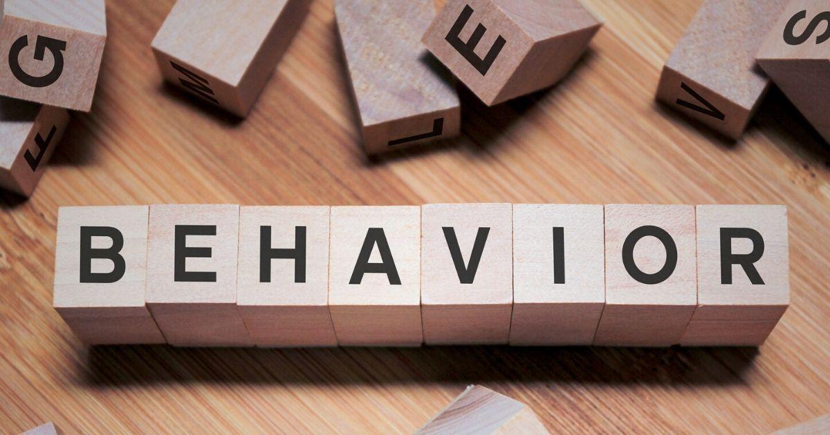 blocks spelling the word behavior